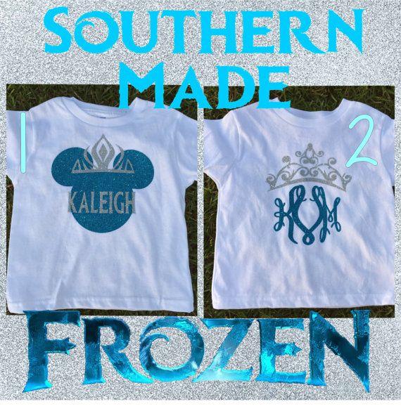 Frozen Disney Monogrammed Shirt Disney Frozen by SouthernMadeLLC