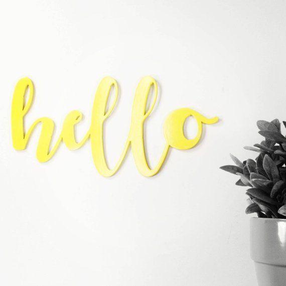 Hello Sunshine Metal Signs Yellow Painting Metal