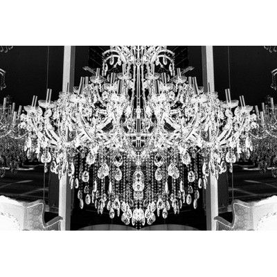 """Fluorescent Palace Goddess Glamour Photographic Print on Canvas in White Size: 32"""" H x 48"""" W"""