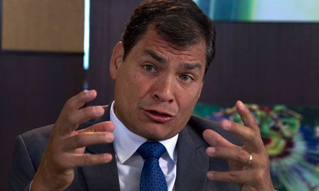 Rafael Correa: we helped Snowden by mistake  Ecuador's president reveals the whistleblower was granted a temporary travel card at 4am 'without authorisation or validity'