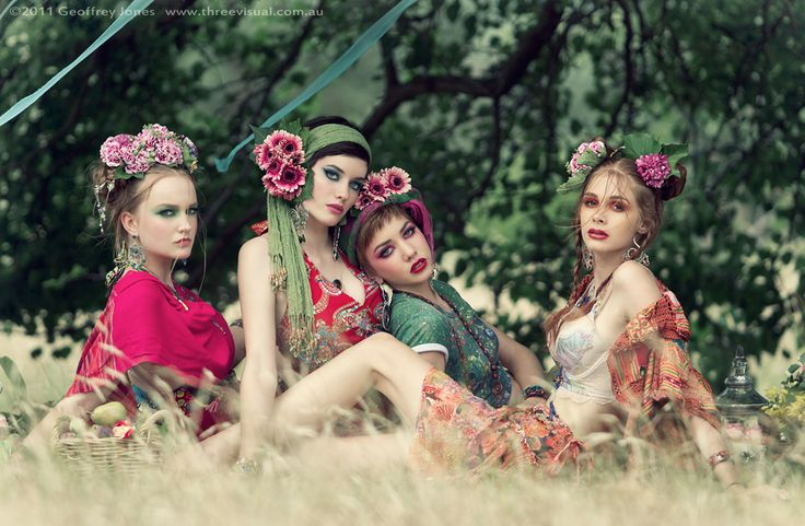 Models: Celia Manthorpe, Izzy Hellyer, Maddy Hellyer, Molly Folkard  Makeup/styling/concept/floral: Dave Reid  Makeup/styling/wardrobe: Mary Li  Assistants: Chris Smith, Sambo Rees  Food: Kassandra Utzinger-Chacos  Hair: Jessica Lewis  Photography/editing: Geoff Jones