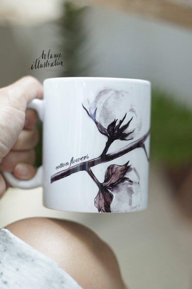 cotton flowers mug