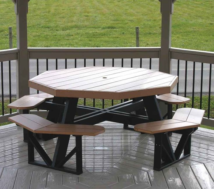 Bench Tables For Sale: Octagon #Polywood #Picnic Table