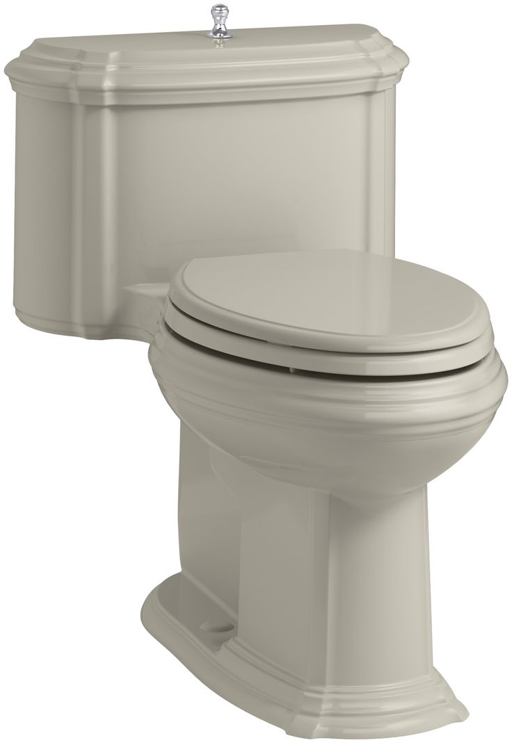 Portrait Comfort Height One-Piece Compact Elongated 1.28 GPF Toilet with Aquapiston Flush Technology, Lift Knob Actuator and Glenbury Quiet-Close Seat with Quick Release Functionality