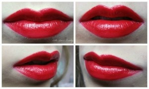 Red lips with the sleek pout paint, Lottelovesbeauty.