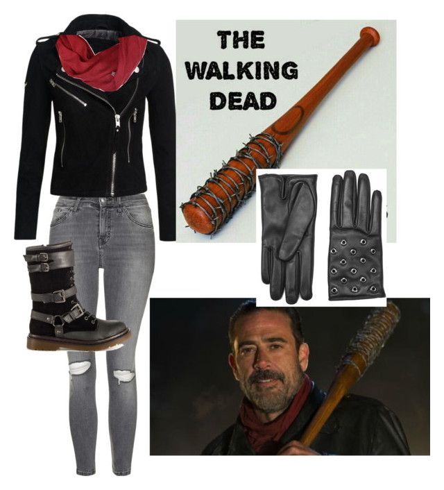 """""""twd Negan"""" by gracie-serros on Polyvore featuring Topshop, Superdry, Penny Loves Kenny and RED Valentino"""