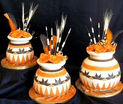 Sugarcraft by Soni: Traditional African Pots Wedding Cake