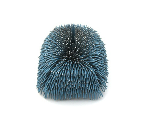 MIRJAM HILLER-DE-Brooch: Gem Blue 2011  Stainless steel, powdercoating