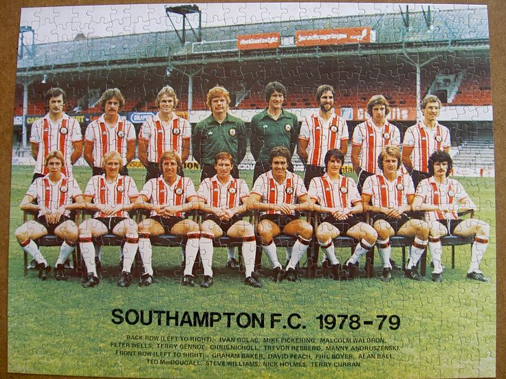 "1978-79 Southampton Football Club Team ""The Saints"""