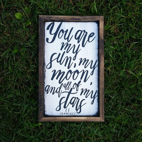 You are my sun, my moon, and all of my stars, Modern Nursery Wall Art, Wedding…                                                                                                                                                                                 More