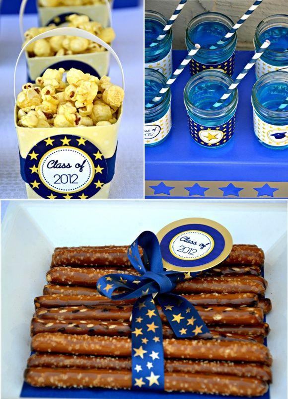 graduation blue party