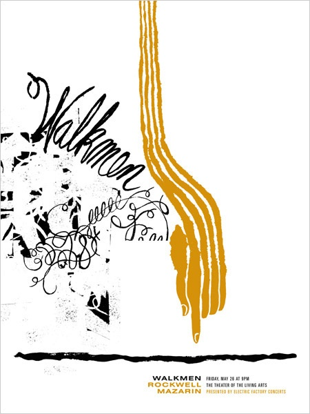 GigPosters.com - Walkmen, The - Rockwell - Mazarin. poster by http://thelargemammal.com