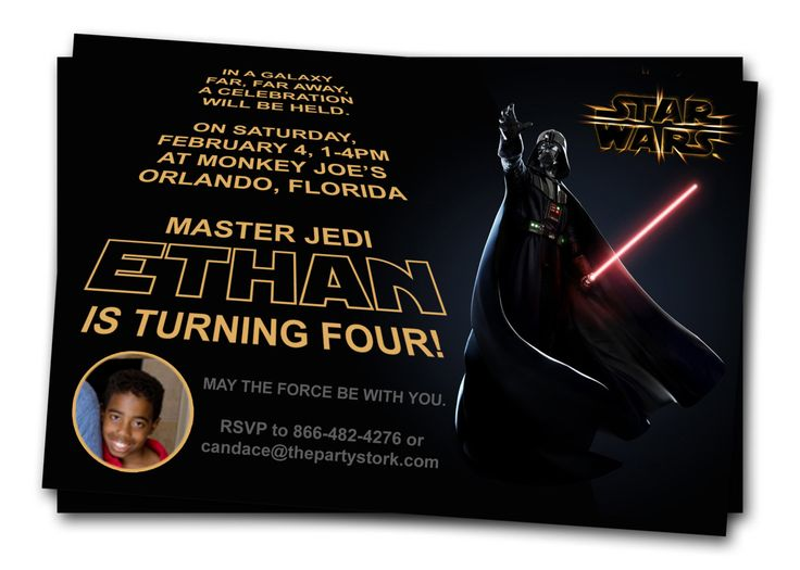 11 best images about Star Wars Party Invitation – Star Wars Party Invitation