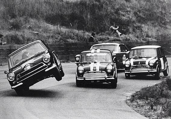 Mini Cooper , 60's Saloon car racing at its best!!