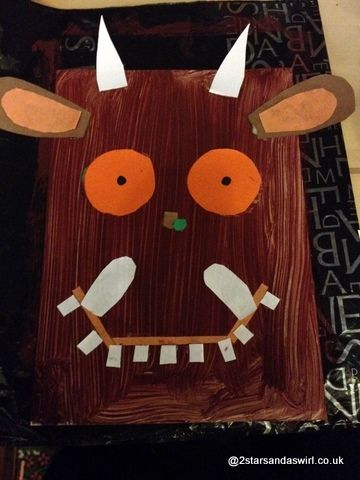 The Gruffalo - Macy LOVES that book!  Fabulous ideas for a Gruffalo party - arts, crafts games, activities