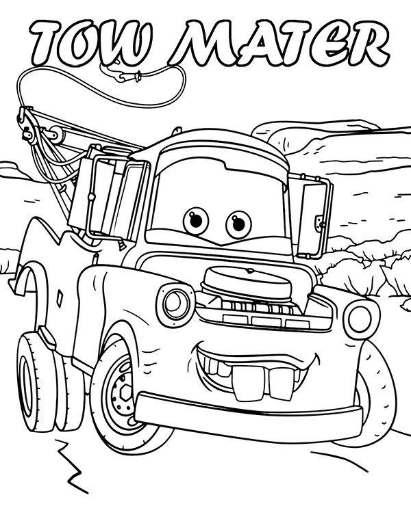 Disney Cars Mater Coloring Pages Printabl Images With Cars Characters Tow Mater Coloring Sheet Coloring Pictures Disney Coloring Pages Lion Coloring Pages