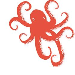 Octopus Naturalistic Rubber Stamp