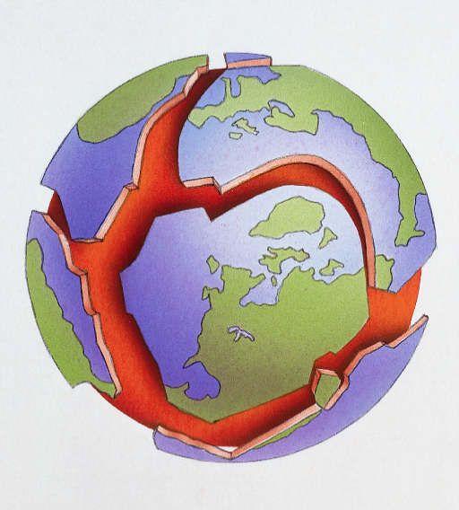 good visual for tectonic plates