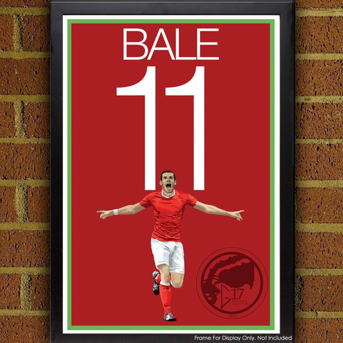 Gareth Bale 11 Poster - Wales National Team - Wales Soccer Poster- 8x10, 8.5x11, 13x19, poster, art, wall decor, home decor by Graphics17 on Etsy