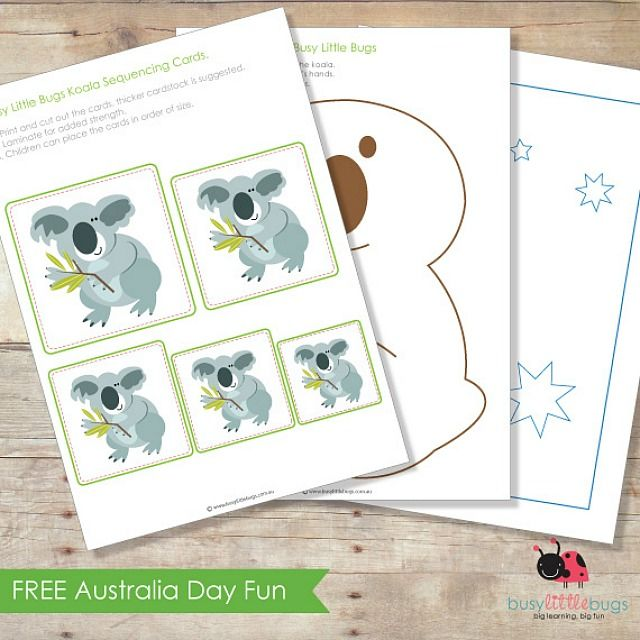 Australia Day: Fun with kids - Simply Sweet Soirees blog - free Australia Day fun pack from  Busy Little Bugs