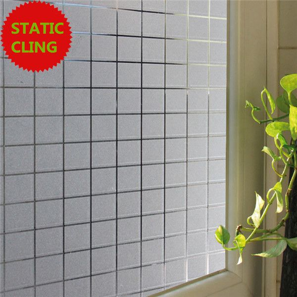 Privacy Frosted Glass Window Film Office Simple Square