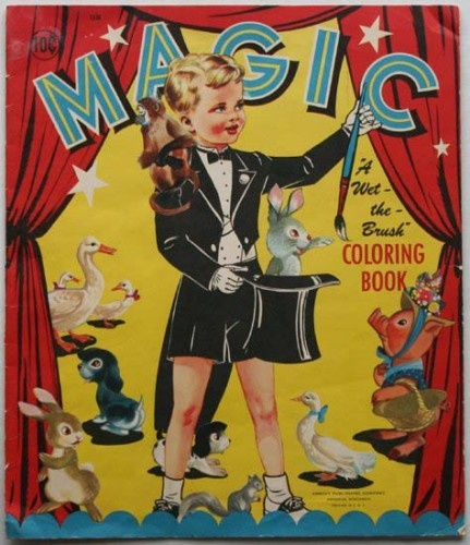 1949 Childrens Coloring Book Magic Abbot Publication