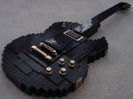 LEGO guitar: Legoguitar, Guitar Design, Music Instruments, Lego Art, Lego Creations, Awesome Guitar, Lego Guitar, Electric Guitar, Amazing Lego