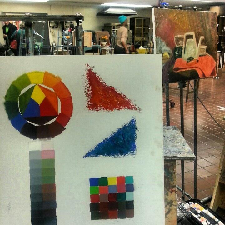 Color wheel. Oil paints #fit