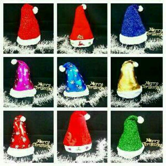 topi natal sinterklas/santa claus pilih motif harga sama hrg 50.000 sms/wa 085642917567 pin bbm 5a9ca498