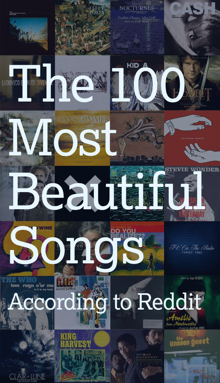 100 Top Model Search: The 100 Most Beautiful Songs In The World, According To