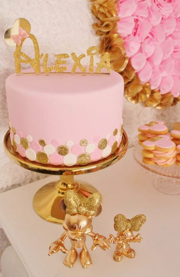 Today's real party feature is a stunning pink and gold Minnie Mouse party from the lovely Amber of The Sweet Cart .   Amber's portrayal of t...