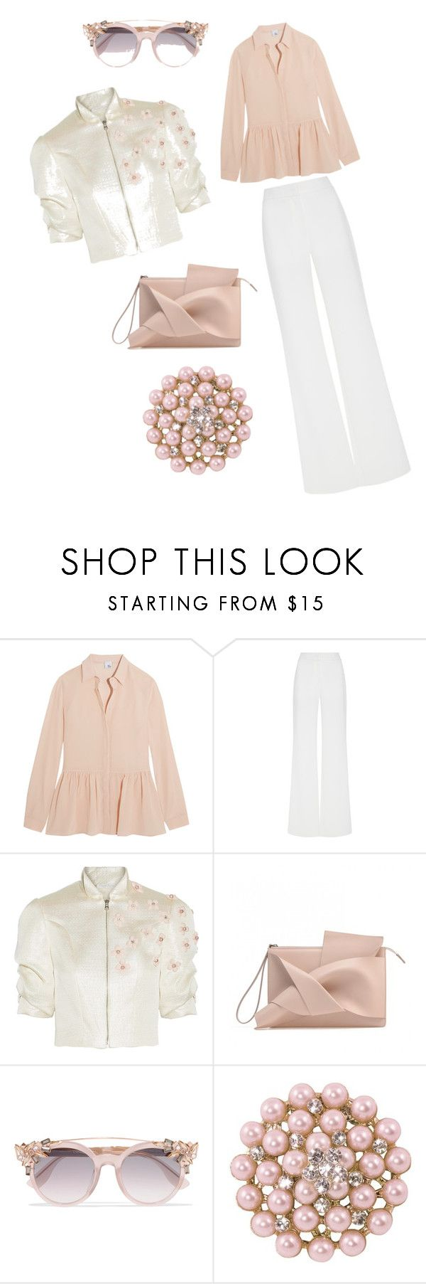 """""""PInk"""" by mariella-montanaro on Polyvore featuring Iris & Ink, Alexis Mabille, Reem Acra and Jimmy Choo"""