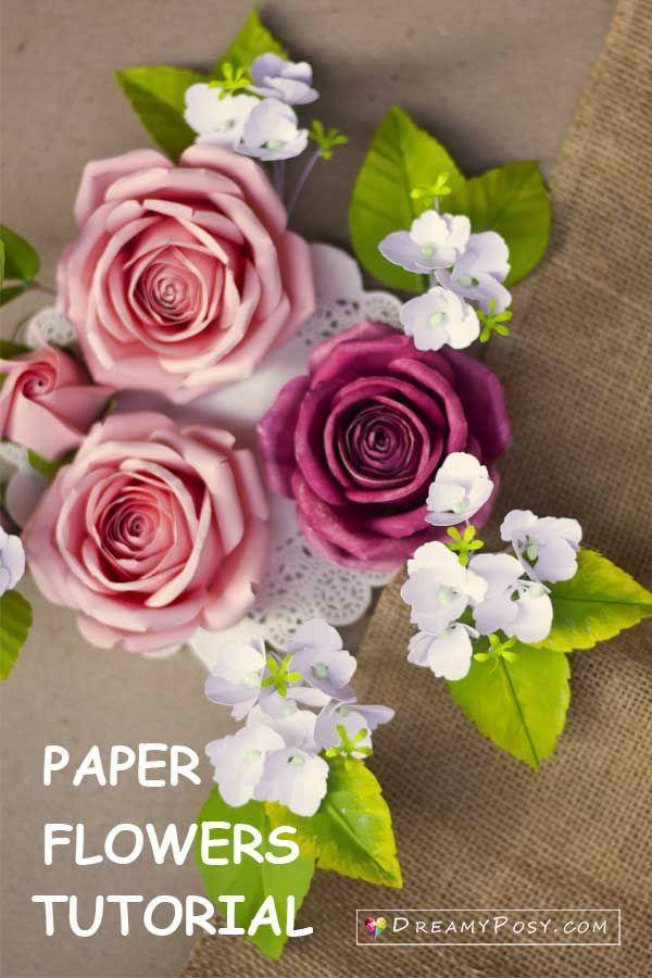 Cardstock Rose Tutorial Paper Flower Tutorial Paper Flower