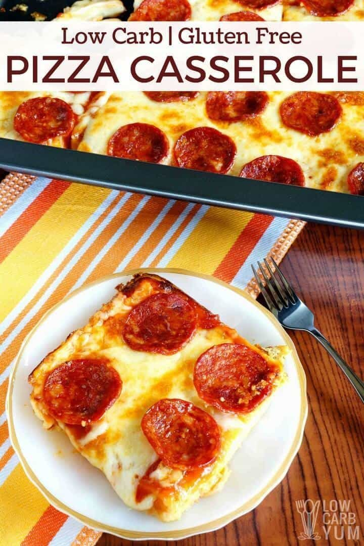 Low Carb Pizza Casserole - Gluten Free | Low Carb Yum