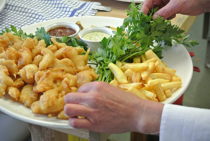 Fish and chips canapés... now there's a thought!