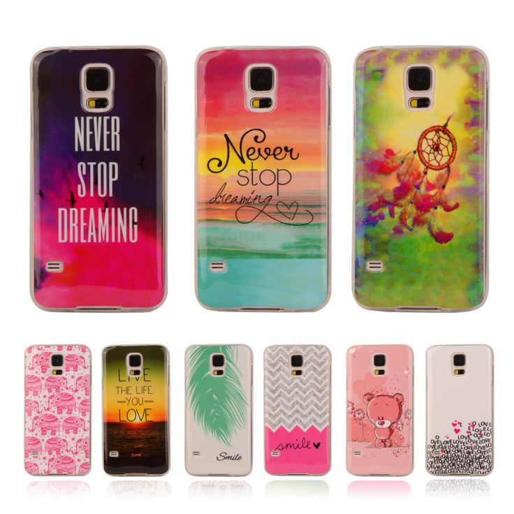 """Cartoon Pattern Rubber TPU Soft Silicone Case For Samsung Galaxy S5 S 5 SV I9600 5.1"""" Back Cover Phone Protect ShockProof Bag"""