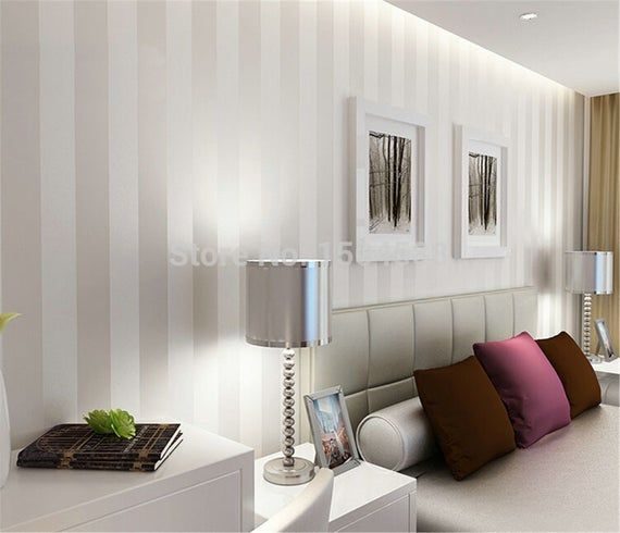 Silver Minimalist Wallpaper Modern Wall Covering Stripe Wall Paper Glitter Non Woven Background Wall Wallpaper For Living Room In 2021 Wallpaper Living Room Striped Wallpaper Room Wallpaper