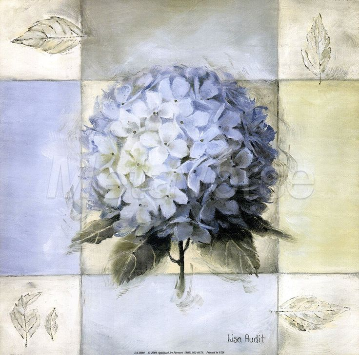It's well worth checking out Lisa Audit's artwork. This one is Blue Hydrangea II.