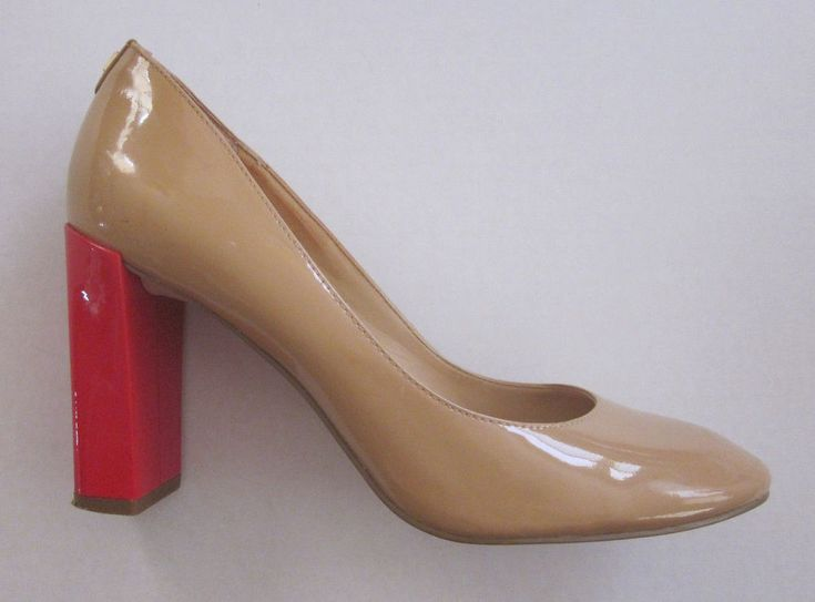IVANKA TRUMP Women's Natural Filipa Patent Leather Pumps Shoes Size 8 1/2 M