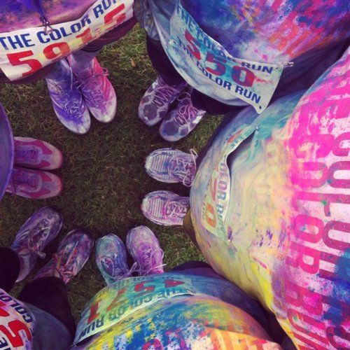 The Color Run -- DO IT! I WANNA GO WHO'S COMING I DON'T CARE THAT MY KNEES DON'T LIKE RUNNING ANYMORE