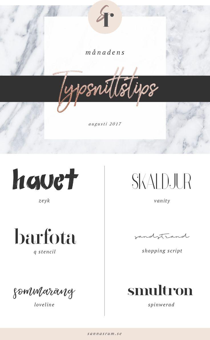 Typsnittstips – augusti