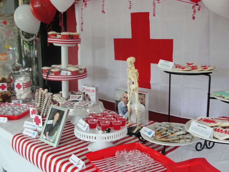 Dessert Table Medical Themed Graduation Party For Sean