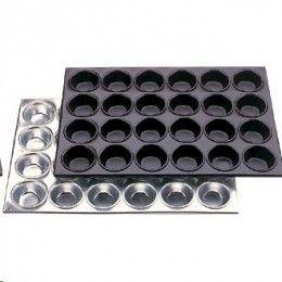 Bandejas o moldes para hornear, con ellas las cápsulas o linners no se abren durante el horneado y se consigue una cocción uniforme de los bizcochos.