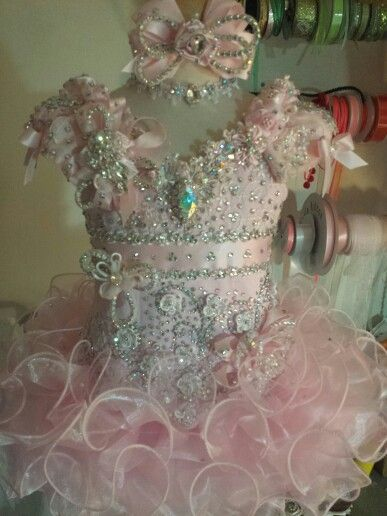 Baby pink pageants like dress by Royalty Designs www.royaltydesigns.net
