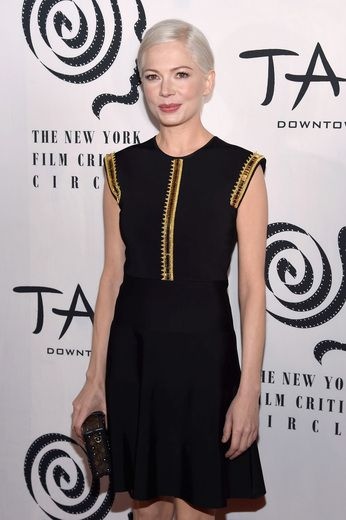 """Manchester by the Sea"" actress Michelle Williams looked chic in an LBD at the New York Film Critics Circle Awards."