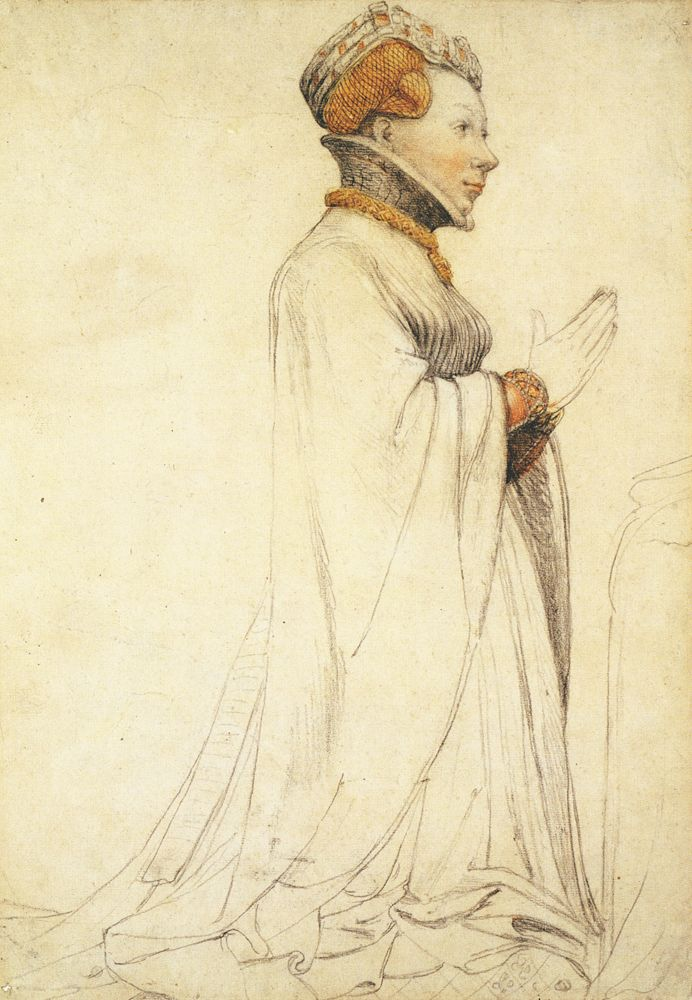Hans Holbein the Younger, Statue of Jeanne de Boulogne in Bourges, 1524