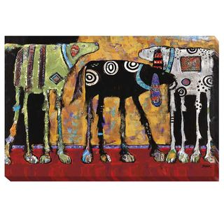 Jenny Foster 'Looking For Trouble' Canvas Art - Overstock™ Shopping - Top Rated Canvas