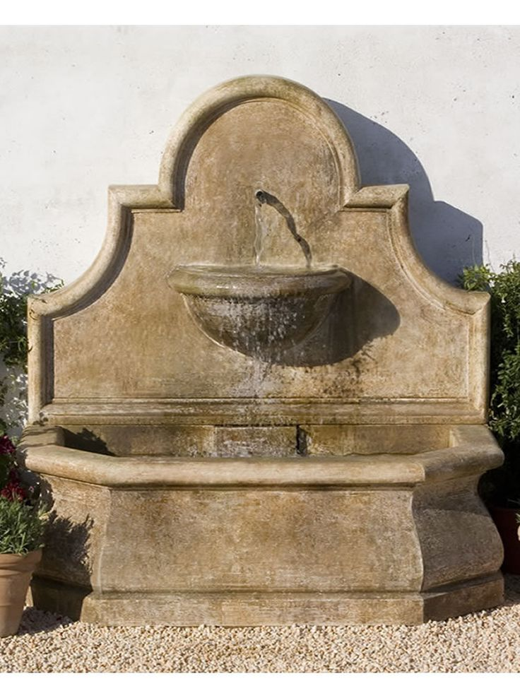 39 best images about fuentes de agua on pinterest garden for Outdoor wall fountains