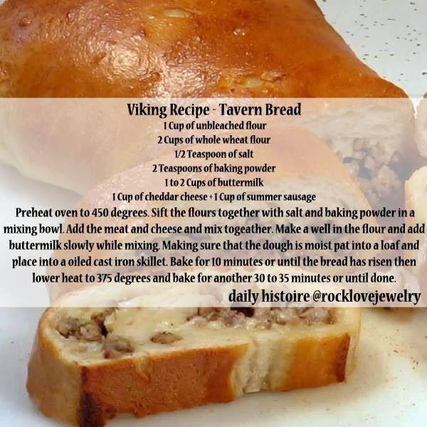 Viking Recipe on RockLove Jewelry's Facebook: Tavern Bread