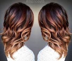 faits saillants ombre caramel pour les cheveux brun foncé